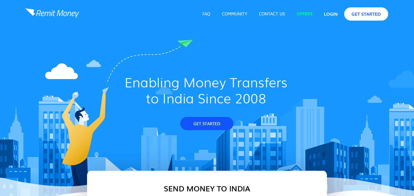Through Remitmoney Send Money To India